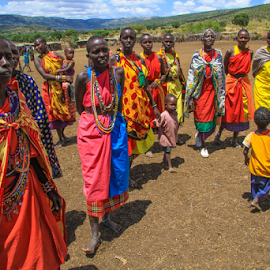 Masai women by Wim Moons - People Family