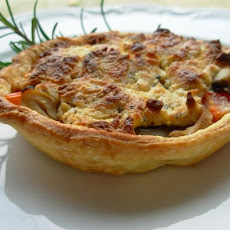 Cherry Tomato and Vegemite Tarts