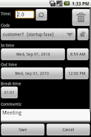 Screenshot of myTimeSheet Free