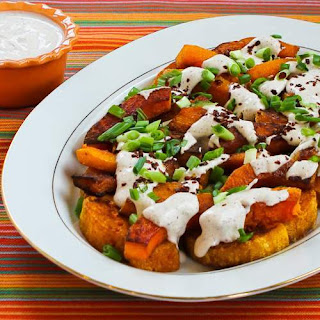 Roasted Butternut Squash Wedges with Tahini-Yogurt Sauce, Sumac, and Aleppo Pepper