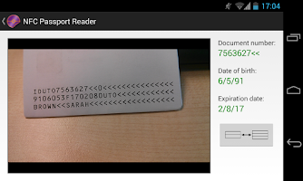 Screenshot of NFC Passport Reader (Old)
