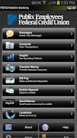 Screenshot of PEFCU Mobile Banking