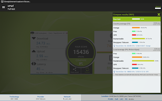 Screenshot of nPerf: speed test & QoS 4G