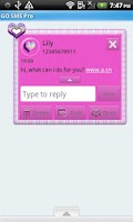 Screenshot of GO SMS THEME/PolkaDotFur4U