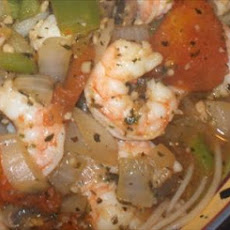 Spaghetti and Shrimp With Herb Sauce