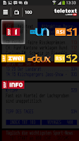 Screenshot of TELETEXT (mobile Website)