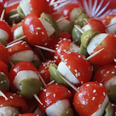 Tomato and Mozzarella Mini Kebabs
