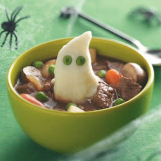 Beef Stew with Ghoulish Mashed Potatoes Recipe