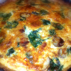 Spinach and Potato Quiche