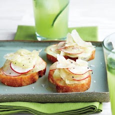 Cucumber and Radish Crostini