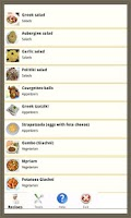 Screenshot of Mediterranean recipes