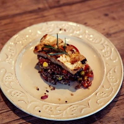 Pomegranate-Glazed Tofu & Quinoa