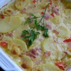 Not Your Ordinary Scalloped Potatoes With Ham