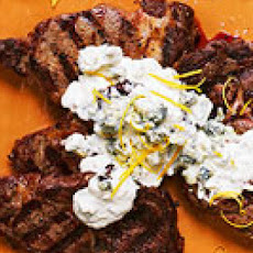 Grilled Steak with Blue Cheese Sauce
