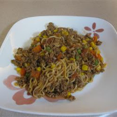 Ground Beef Curly Noodle