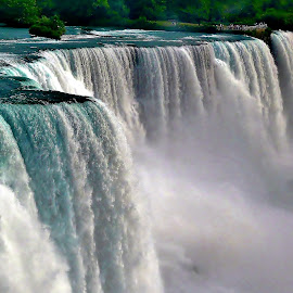 Niagara in the Afternoon by Tim Hall - Landscapes Waterscapes ( buffalo, american falls, niagara falls, waterscape, ontario, niagara river, bridal veil, mistty )