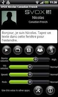 Screenshot of SVOX CA French Nicolas Voice