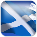 3D Scotland Flag + icon