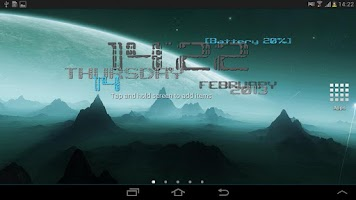 Screenshot of Timewall Clock Wallpaper free