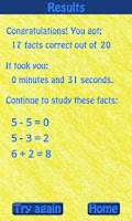 Screenshot of Know Your Math Facts