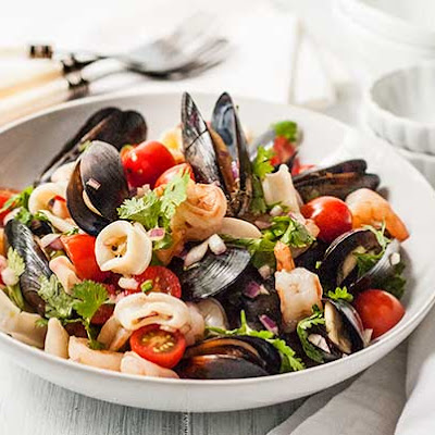 Gluten Free Asian Seafood Salad