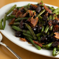 Green Beans with Tart Cherry Balsamic Glaze