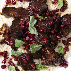 Pomegranate-Marinated Lamb with Spices and Couscous