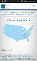 Screenshot of NCCN Guidelines for Smartphone