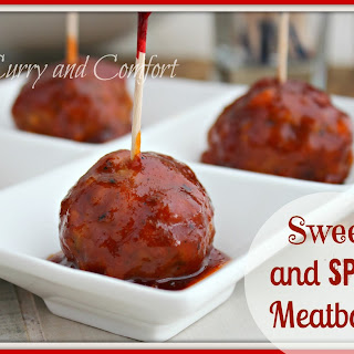 Sriracha and Apricot Glazed Meatballs