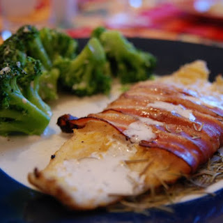 Bacon Wrapped Trout with Pesto