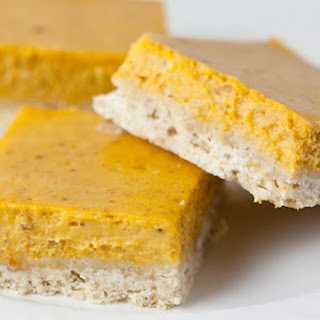 Pumpkin Cheesecake Bars with Brown Sugar Shortbread Crust