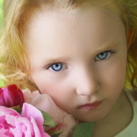 Why You Have To Look So Mean by Cheryl Korotky - Babies & Children Child Portraits ( amazng faces, red hair, a heartbeat in time photography, blue eyes, beautiful children, redhead, child model nevaeh, peony, portrait )