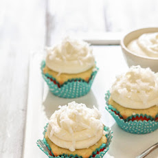Coconut Lime Cupcakes with Coconut Lime Cream Cheese Frosting