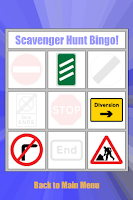 Screenshot of Scavenger Hunt Bingo!