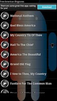 Screenshot of Free American Ringtones