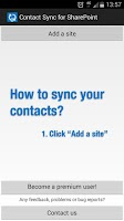Screenshot of Contact Sync for SharePoint