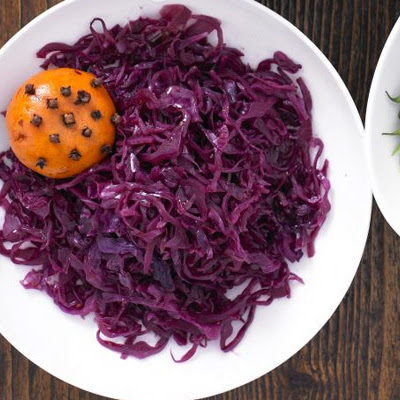 Mulled Red Cabbage With Clementines