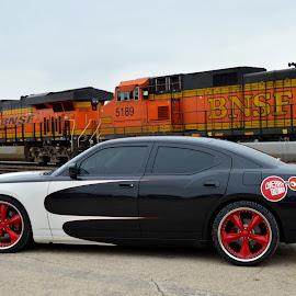 Passin Train by Kevin Dietze - Transportation Automobiles