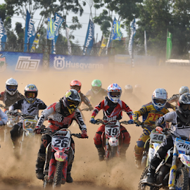 Start race by Hariesdesign . - Sports & Fitness Motorsports ( motocross, bikers, motosport, racing, competition )