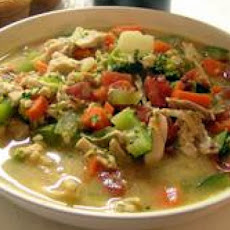 Peanut Butter Vegetable Chicken Soup