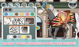 Screenshot of Horse Dress Up – horse game
