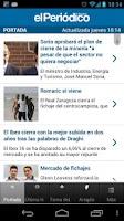 Screenshot of El Periódico de Aragón