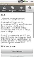 Screenshot of RSA Vision