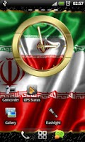 Screenshot of Iran flag clocks