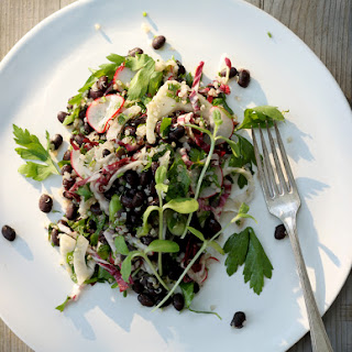 Minty Black Bean Salad for a Crowd