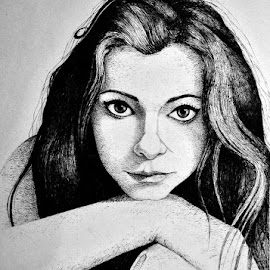 girl by Alexandru Burlacu - Drawing All Drawing