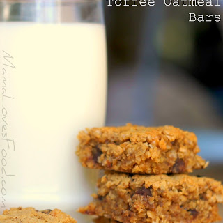 Chocolate Chip Toffee Oatmeal Bars