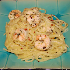 Shrimp Scampi With Pasta Alfredo