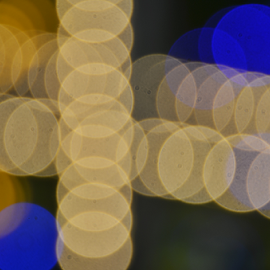 Golden and blue lights by Arvind Akki - Abstract Light Painting ( abstract, lights, circles, color, mood, mood factory, holiday, christmas, hanukkah, red, green, artifical, lighting, colors, Kwanzaa, blue, black, celebrate, tis the season, festive )