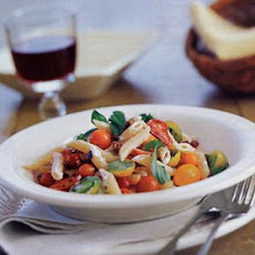 Pasta with Tomatoes and Goat Cheese